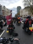 The 'Ride for Soldier F' with current and former members of airborne forces, plus supporters, central London