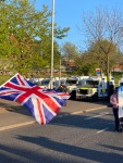 Loyalists protest peacefully against the Northern Ireland protocol that has effectively created a border between NI and Great Britain.